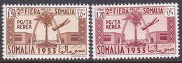 Somalia Scott C30-31 1953 2nd Somali Fair, Mint Never Hinged - Somalie (AFIS)