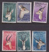 Somalia Scott C40-45 1955 Fauna, Mint Hinged - Somalie (AFIS)