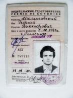 Permis De Conduire Driver's License From Lithuania Ussr Soviet Occupation Period 1984 - Documents Historiques