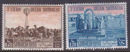 Somalia Scott C46-47 1955 Third Somali Fair, Mint Never Hinged - Somalia (AFIS)