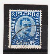 MAG1407  ISLAND 1921  Michl  103 Used / Gestempelt  ZÄHNUNG Siehe ABBILDUNG - 1918-1944 Unabhängige Verwaltung