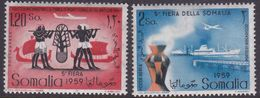 Somalia Scott C63-64 1959 5th Somali Fair, Mint Never Hinged - Somalië (AFIS)