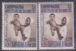 Somalia Scott CB11-12 1957 2nd Campaign Against Tuberculosis, Mint Never Hinged - Somalie (AFIS)