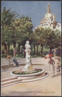 CPA - MONTE CARLO - STATUE DE BERLIOZ SUR LES TERRASSES - Carte Illustrée Signée - Edition Robaudy - Monte-Carlo