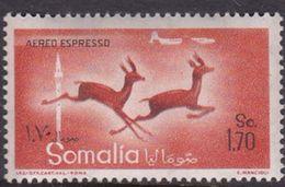 Somalia Scott CE1 1958 Animals, 1,70s Orange Red And Black, Mint Never Hinged - Somalië (AFIS)