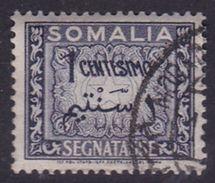 Somalia Scott J55 1950 Postage Due 1c Dark Gray, Used - Somalie (AFIS)