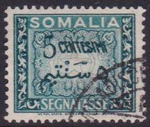Somalia Scott J57 1950 Postage Due 5c Green, Used - Somalia (AFIS)