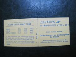 CARNET Briat N°2720-C2a SIGNE ABSENCE DE PREDECOUPE - Definitives