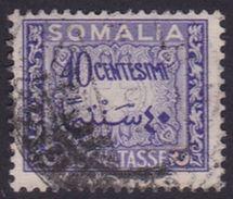 Somalia Scott J59 1950 Postage Due 40c Violet, Used - Somalia (AFIS)