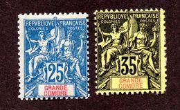 Grandes Comores N°16,17 N*  TB  Cote 50 Euros !!! - Grande Comore (1897-1912)