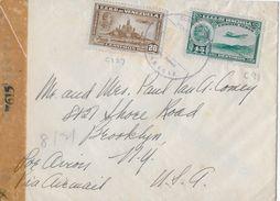 VENEZUELA → Censur-Letter From Venezuela To Brooklyn USA, Ca.1940   ►Correo Aereo◄ - Venezuela