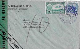 VENEZUELA → Letter From Maracaibo Venezuela (M.A. Belloso & HNO. To Ney York 1943  ►Correo Aereo◄ - Venezuela