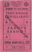 Italien - Azienda Comunale Autofiloviaria Padova - Biglietto - Ticket - Fahrschein L. 110 - Europe