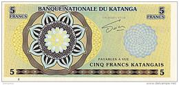 Katanga 5 Francs 2013 émission Privée UNC - Zonder Classificatie