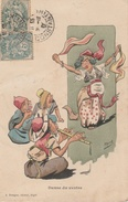 17 / 9 / 268   -    DANSE  DU  VENTRE  ( Signé  Illisible ) - Illustrateurs & Photographes