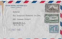 VENEZUELA → Letter From Victor Rafael Escobar & Co.Caracas To Brooklyn  ►CENSUR◄ - Venezuela