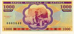 Katanga 1000 Francs 2013 émission Privée UNC - Zonder Classificatie