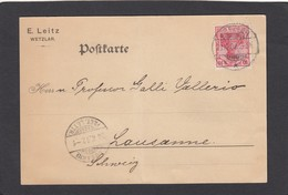 E.LEITZ,WETZLAR. POSTKARTE NACH LAUSANNE,1902. - Deutschland