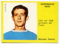 113> GOVERNATO - LAZIO = Figurina Calciatori Supercalcio MIRA 1963-64 - Trading Cards