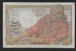 20 Francs Pêcheur Du  10 - 3 - 1949 - 1871-1952 Circulated During XXth