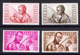 GUINEA ESPAÑOLA 1953.PRO INDIGENAS  EDIFIL Nº321/324   NUEVOS  SIN  CHARNELA. MNH .CECI  2 Nº 60 - Guinea Española