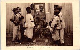 AFRIQUE -- GABON -- La Leçon De Calcul - Gabon