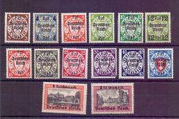 Dt. Reich 1939 - Danzig Aufdruck MiNr.716/729 Ungebraucht* - Michel 65,00€ (868) - Used Stamps
