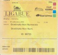 Biglietto Ingresso (cedolino) Concerto Ligabue Arena Di Verona 2009 - Biglietti D'ingresso