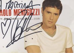 Autografo Paolo Meneguzzi - Autographes