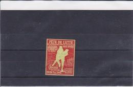 Reklamemarke Vignette - Fête De Lutte - Carouge Genève 1907 (415) - Vignetten (Erinnophilie)