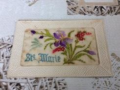 SAINTE MARIE AUX MINES.  ? ?  Carte Brodée   17/9/17 - Sainte-Marie-aux-Mines