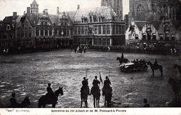 BELGIQUE - ENTREVUE DU ROI ALBERT ET DE M.POINCARE A FURNES - Veurne