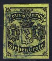 BREMEN: Mi Nr 3 A  Obl./Gestempelt/used 1870 - Brême