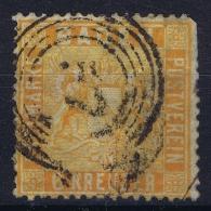 BADEN Mi Nr 11 B  Obl./Gestempelt/used 1862  Irregular Perfo Right Top - Baden