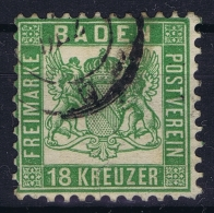 BADEN Mi Nr 21a  Obl./Gestempelt/used Small Tear At Right Side - Baden