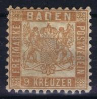 BADEN Mi Nr 20 B Gelbbraun MH/* Falz/ Charniere  Thin - Baden