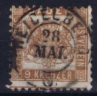 BADEN Mi Nr 20 B Gelbbraun Obl./Gestempelt/used - Baden
