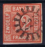 BAYERN:  Mi Nr 6 Obl./Gestempelt/used  Cancel 225 Nesselwang - Bavaria