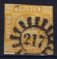 BAYERN:  Mi Nr 7 Obl./Gestempelt/used Cancel 217 - Bavière