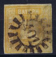 BAYERN:  Mi Nr 7 Obl./Gestempelt/used Cancel 401 - Bavière