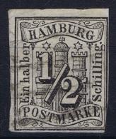 HAMBURG  Mi Nr  1  Obl./Gestempelt/used WM 1 - Hamburg