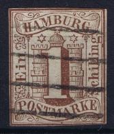 HAMBURG  Mi Nr  2  Obl./Gestempelt/used WM 1 - Hamburg