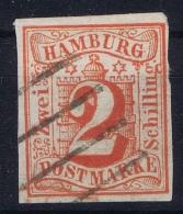 HAMBURG  Mi Nr  3 Obl./Gestempelt/used WM 1 - Hamburg