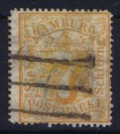 HAMBURG  Mi Nr  17 Obl./Gestempelt/used WM 1 - Hamburg