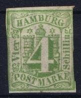 HAMBURG  Mi Nr  5a MH/* Falz/ Charniere  WM 1 - Hamburg (Amburgo)