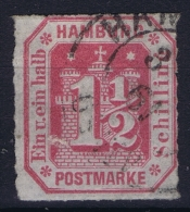 HAMBURG  Mi Nr 21 Obl./Gestempelt/used  1860 - Hamburg