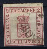 Mecklenburg-Schwerin  Mi Nr 6 Obl./Gestempelt/used Rundstempel Hagenau-Rostock - Mecklenburg-Schwerin