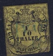 OLDENBURG:  Mi Nr  4 Obl./Gestempelt/used 1852 - Oldenbourg