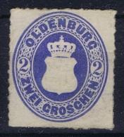 OLDENBURG:  Mi Nr  18A Not Used (*) SG - Oldenburg