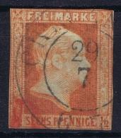 PREUSSEN  Mi Nr 13  Obl./Gestempelt/used  1859 + Rot Stempel - Prusse